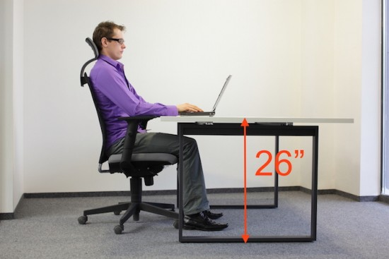 Ergonomic Table Height For Laptops Desktops With Big Monitors