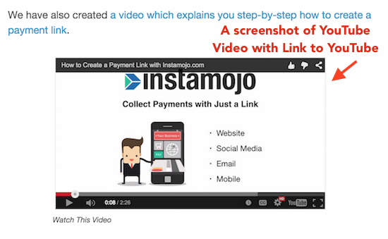 embed youtube videos inside email