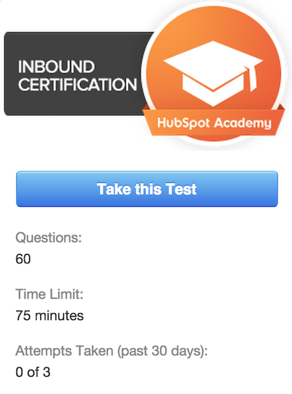 hubspot inbound marketing exam