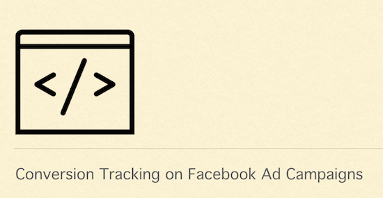 conversion tracking facebook
