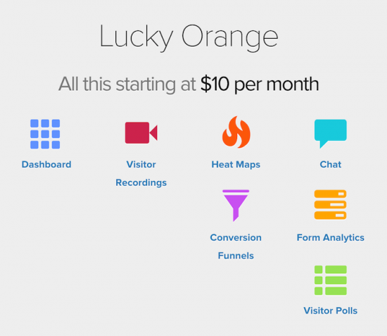 luckyorange features