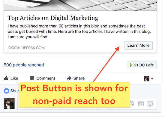 Get the Post Button with a $1 Boost