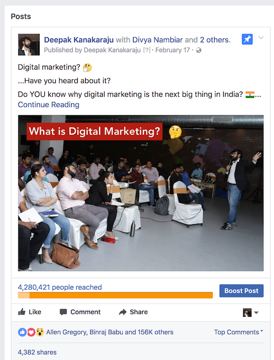 how to boost post on facebook